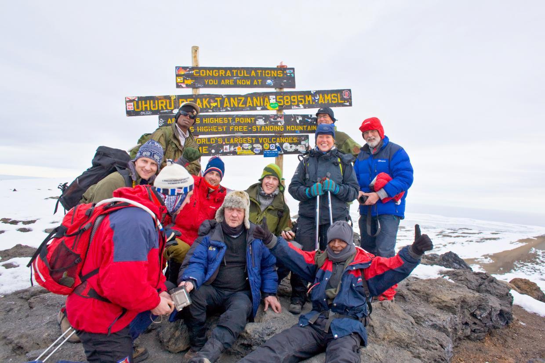 Toppafrikas team på Uhuru Peak